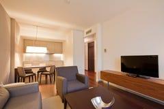 Vardagsrum för hotellfölje Royaltyfria Bilder