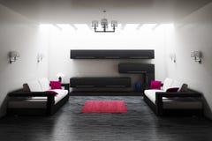 vardagsrum för interior 3d Arkivfoto