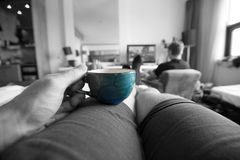 Vardagsrum för kaffeavbrott Royaltyfria Foton