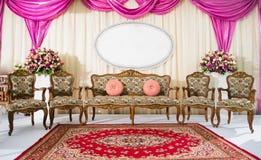 Vardagsrum för tappning för inre inställningsstil klassisk royaltyfri foto
