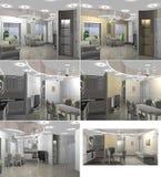 vardagsrum för tolkning 3D Arkivbilder
