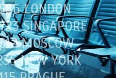 Vardagsrum med platser i flygplatsen royaltyfria foton