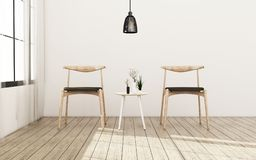 Vardagsrum med stol r klassisk design royaltyfri illustrationer