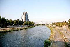 The Vardar River. In skopje capital city on Republic of macedonia Stock Photo
