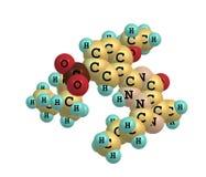 Vardenafil molecule isolated on white Stock Photo
