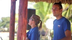 VARDERO, CUBA - DECEMBER 22, 2011: Actors at resort stock footage