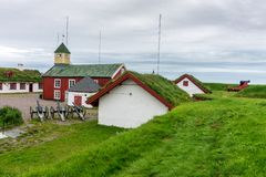 Vardohus-Festung in der Stadt von Vardo, Finnmark, Norwegen Stockbild