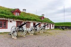 Vardohus-Festung in der Stadt von Vardo, Finnmark, Norwegen Lizenzfreie Stockbilder