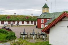 Vardohus-Festung in der Stadt von Vardo, Finnmark, Norwegen Lizenzfreie Stockfotografie
