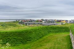 Vardohus-Festung in der Stadt von Vardo, Finnmark, Norwegen Stockfoto