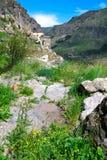 Vardzia è un complesso del monastero della caverna dei secoli di XII-XIII in Immagini Stock Libere da Diritti