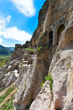 Vardzia è un complesso del monastero della caverna dei secoli di XII-XIII in Fotografia Stock