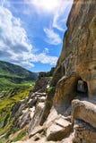 Vardzia é um complexo do monastério da caverna de séculos de XII-XIII no Foto de Stock