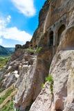 Vardzia é um complexo do monastério da caverna de séculos de XII-XIII no Fotografia de Stock