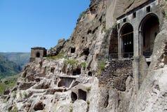 Vardzia洞城市和教会在乔治亚 库存照片