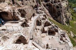 Vardzia cave city complex Stock Photo