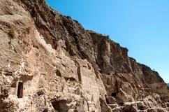 Vardzia cave city complex Stock Images