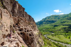 Vardzia cave city complex Stock Images