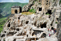 Vardzia cave city in summer Stock Photography