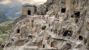 Vardzia cave monastery. Georgia stock video footage