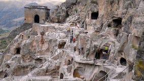 Vardzia cave monastery. Georgia stock video