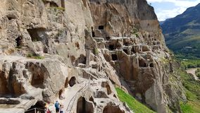 Vardzia is a cave monastery site in Georgia stock images