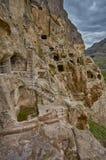 Vardzia Cave Monastery Town in Georgia Stock Photos