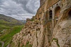Vardzia Cave Monastery Town in Georgia Royalty Free Stock Images