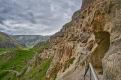 Vardzia Cave Monastery Town in Georgia Stock Photo