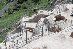 Vardzia Cave Town-Monastery. In Georgia royalty free stock photos