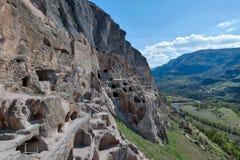 Vardzia Caves in Southern Georgia, taken in April 2019rn` taken in hdr royalty free stock images