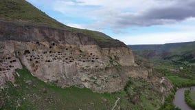 Vardzia est un site de monast?re de caverne en G?orgie du sud clips vidéos