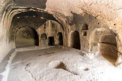 Vardzia grottarum i klosterkomplexet, Lesser Caucasus, Georgia arkivfoto