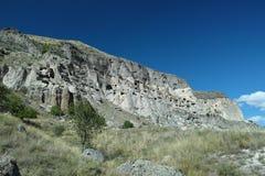 Vardzia grottastad Arkivbild