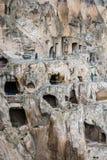 Vardzia Gruzja, Maj, - 8, 2017 Sławny jama monaster z zadziwiającym widokiem dolina obrazy royalty free
