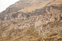 Vardzia. Hole, dwelling. Stock Photo