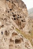 Vardzia. Hole, dwelling. Stock Photos