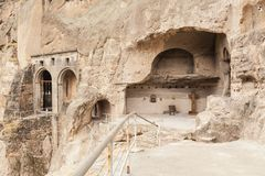 Vardzia. Hole, dwelling. Royalty Free Stock Images
