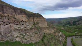 Vardzia jest jama monasteru miejscem w po?udniowym Gruzja zdjęcie wideo