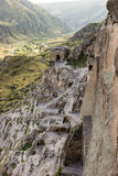 Vardzia. Rock city. View of the valley Royalty Free Stock Images