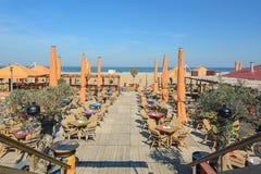 Vare al club en la playa en Scheveningen, Países Bajos Fotografía de archivo libre de regalías