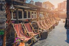 Vare al club en la playa en Scheveningen, Países Bajos Imagen de archivo libre de regalías
