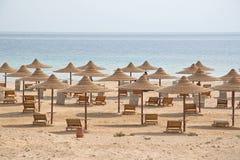 Vare con las chozas vacías múltiples, Mar Rojo, Egipto Foto de archivo libre de regalías