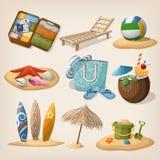 Vare el conjunto del icono de las vacaciones Ilustración del vector libre illustration