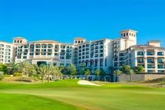 Vare el paisaje con el hotel de lujo, isla de Saadiyat en Ara unido Imágenes de archivo libres de regalías