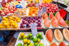 Vareity of fruits in Bowrington Road Market near by Times Square Stock Photo