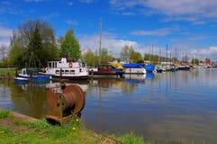 Varel-Hafen stockbild