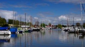 Varel harbour. In Estern Friesland, Germany stock video footage