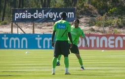 Varela (parte anteriore) e Ruben Micael (posteriore) Fotografia Stock