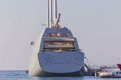 ` Varend Jacht A `, SYA, één van de biggеst varende jachten in de wereld royalty-vrije stock foto's